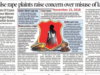 False rape plaints raise concern over misuse of law