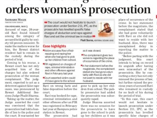 False rape charge: Court orders woman's prosecution